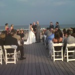 Ceremony on the deck.