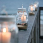 The North Beach Club House deck at dusk.