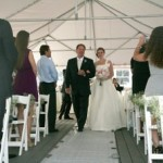 A wedding cermony at the North Beach Club House.