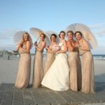A wedding party at the North Beach Club House.